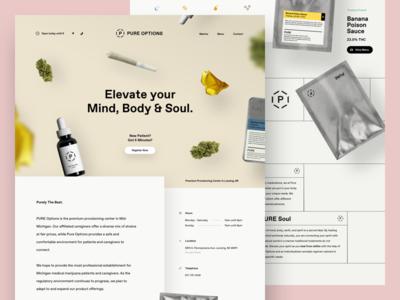 Pure Options Website web product floating dispensary marijuana website
