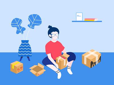 Unpacking design illustrations ui
