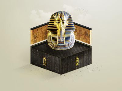 Tutankhamun Graphics Design king ancient egypt desert box graphics art inspiration inspire pharaoh graphics design 3d graphic graphics graphic mask egypt tutankhamun
