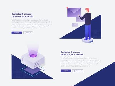 illustration web hosting services design
