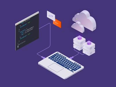 Self-Managed cloud servers illustration