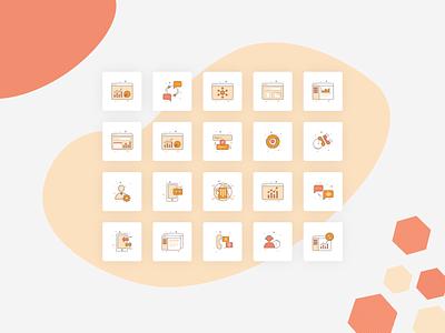 Icons for cloud communication platform animation vector app concept website illustration designer ui designstring communication cloud