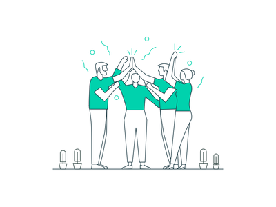 Performance management @Work made easy! flat icon art vector concept ux logo ui illustration designer