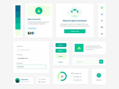 Design Component design concept illustration application web product ux visualdesign designer component ui