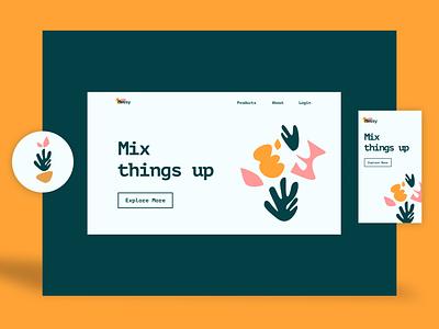 Visual design concept concept vector branding website design illustration designer ui