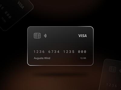 Glassmorphism card design concept concept card design concept branding website design illustration designer ui