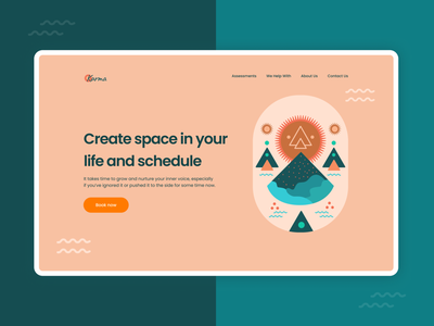 Illustration and Hero section concept banner hero new trend website design concept designer illustration ui