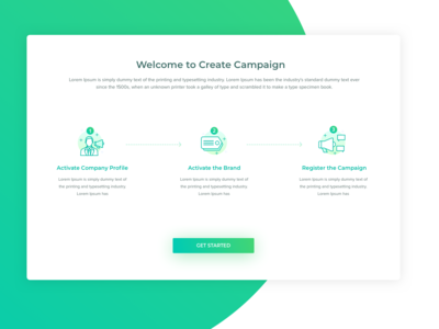 Create Campaign, Onboarding
