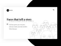 The Faces Hero Concept