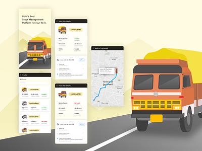 Truck Managing Application Concept art website designer design app ui app managment trend new mobile app mobile ui concept fleet management truck ux ui application