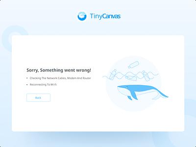 Error page for Figma plugin TinyCanvas popular trend sketch 404 error page plugin figma error page branding web ux concept website illustration designer design ui