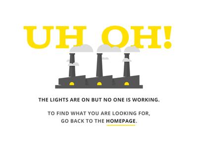 Daily UI - Day 8 oh uh yellow error 404 ui daily