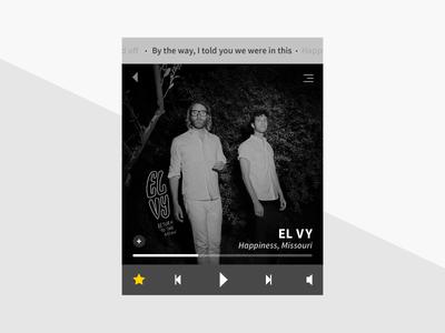 Daily UI - Day 9 widget lyrics player music ui daily