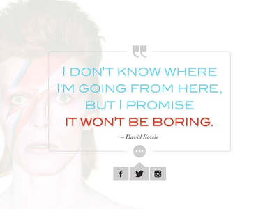 Daily UI - Day 10 bowie david minimal share social quote ui daily