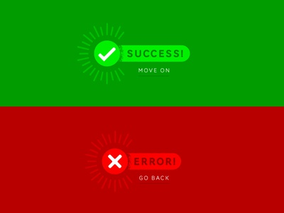 Daily UI - Day 11 green red message error success ui daily
