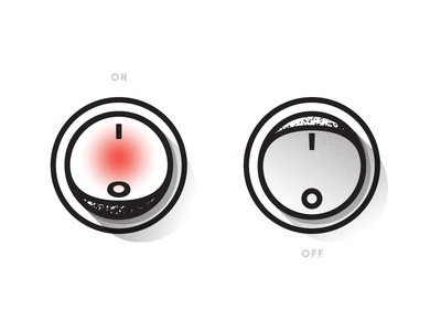 Daily UI - Day 15 shadow flat minimal switch off on ui daily