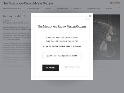 Daily UI - Day 16 email minimal overlay pop up ui daily