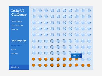 Daily UI - Day 18 orange blue minimal chart analytics stats ui daily