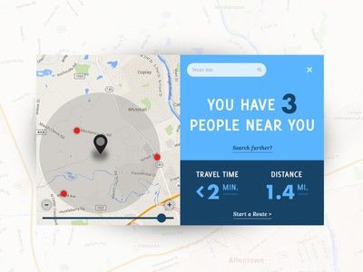 Daily UI - Day 20 blue map tracker location ui daily