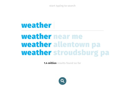 Daily UI - Day 22 pennsylvania blue icon weather search ui daily