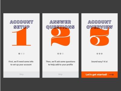 Daily UI - Day 23 account step mobile onboard minimal ui daily
