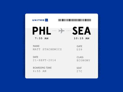 Daily UI - Day 24 travel airplane blue minimal pass boarding ui daily