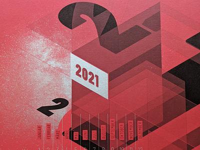 2021 calendar silver design print calendar