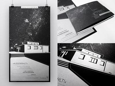 exhibition poster & catalogue black chrome silver spot color weimar bauhaus catalogue book poster exhibition