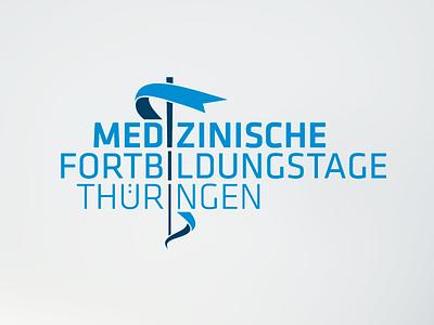 logotype caduceus medical congress sign logotype