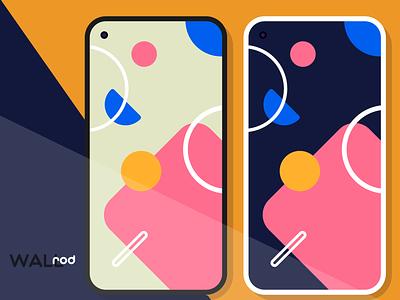 WallRod Update art design app minimalism abstract wallpaper minimal graphic  design graphic art flat dribbble developer design app android app android