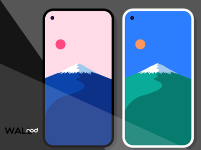WallRod Update landscape mountain japan minimalistic minimal wallpapers graphic  design graphic art flat dribbble developer design app android app android