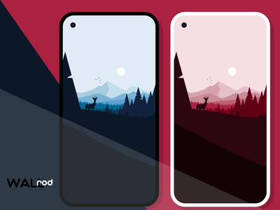 WallRod Update illustration landscapes deer wallpapers graphic  design graphic art flat dribbble developer design app android app android