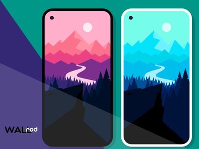 WallRod Update mountain landscape new wallpapers minimal graphic  design graphic art dribbble developer design app android app android