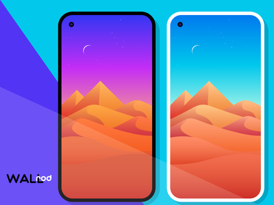 WallRod Update desert landscapes illustraion wallpapers flat graphic  design graphic art dribbble developer design app android app android