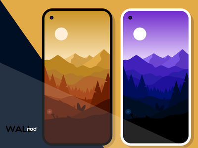 WallRod Update mountain landscapes beautiful wallpaper app wallpapers minimal flat graphic  design graphic art dribbble developer design app android app android