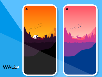 WallRod Update beautiful landscapes dribbble best shot wallpapers minimal flat graphic  design graphic art dribbble developer design app android app android