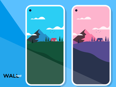 WallRod Update mountains best shot beautiful graphic design landscapes illustration wallpapers dribbble developer design app android app graphic art android