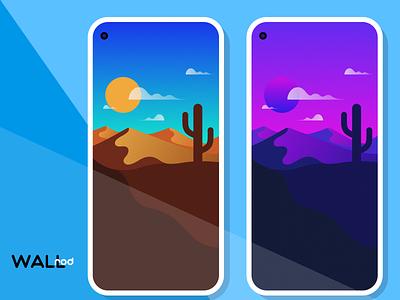 WallRod Update desert best shot beautiful landscape illustration wallpapers graphic  design graphic art dribbble developer design app android app android