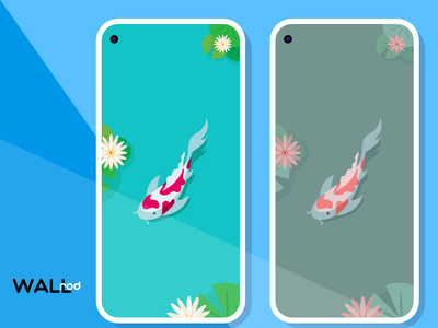 WallRod Update: Koi best shot fish koi beautiful wallpaper app wallpapers illustration minimal graphic  design graphic art dribbble developer design app android app android