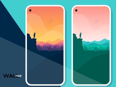 WallRod Update desinger artwork mountains minimalist illustration wallpapers graphic  design graphic art dribbble developer design app android app android