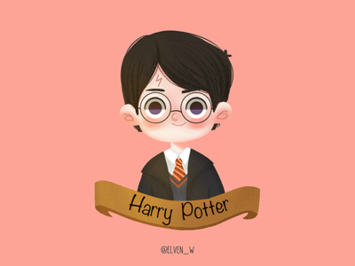 Harry Potter series illustration