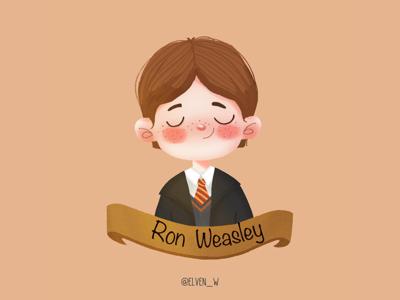 Harry Potter series illustration