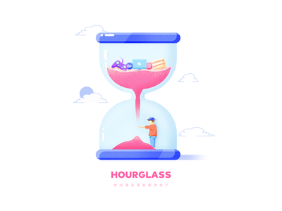 Hourglass app time illustration hourglass 2018