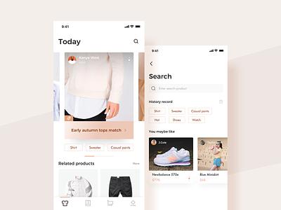Dressing match design iphonex interface ux ui app