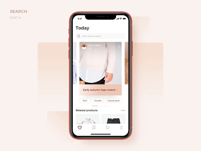 Search Part A search animation interface ux app ui