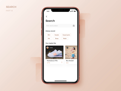Search Part B search animation interface ux app ui