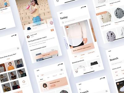 Dressing match design interface ux app ui