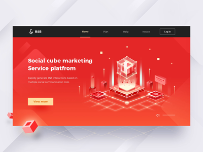 Social Cube website animation cube web animation interface ux app ui