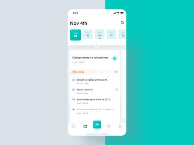 Create task task management task animation interface ux app ui