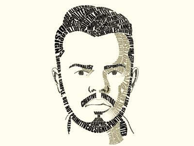 Calligram self-portrait